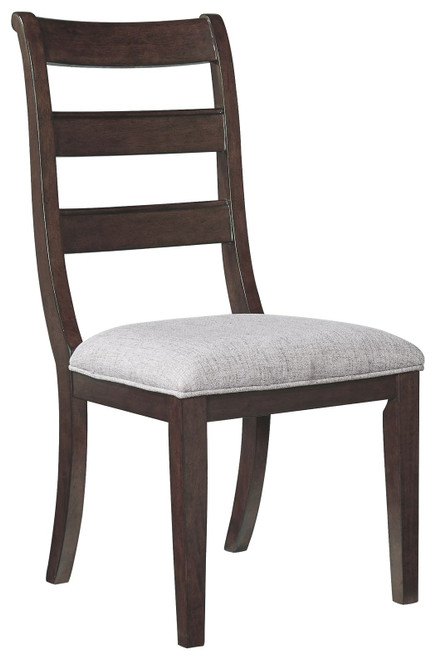 Adinton Reddish Brown Dining UPH Side Chair (Set of 2)