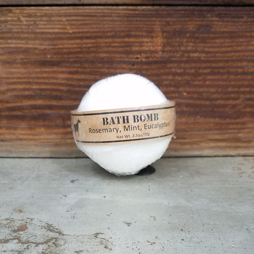 Rosemary, Mint, Eucalyptus Bath Bomb 2.5oz