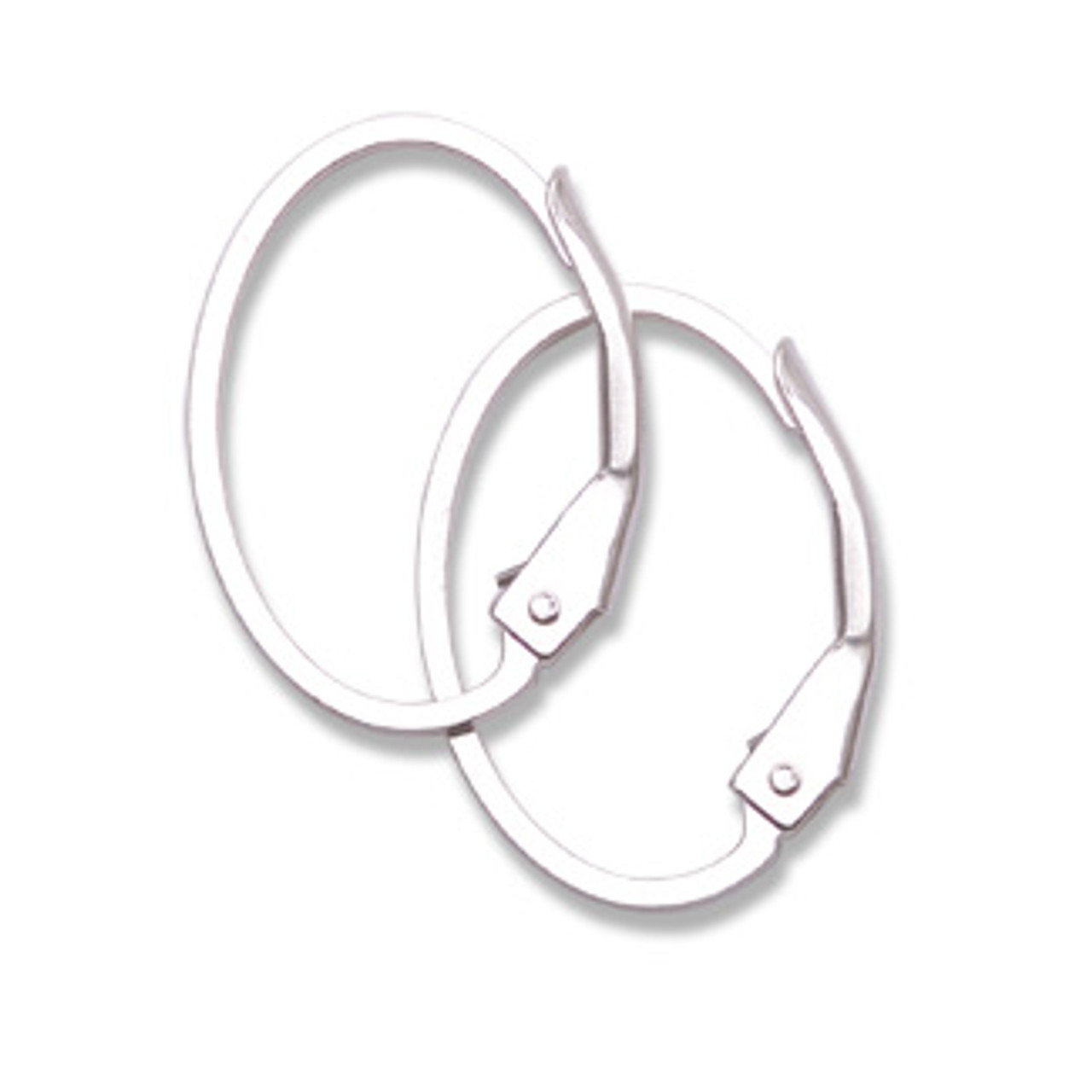 Sterling Oval Leverback (1 pair)