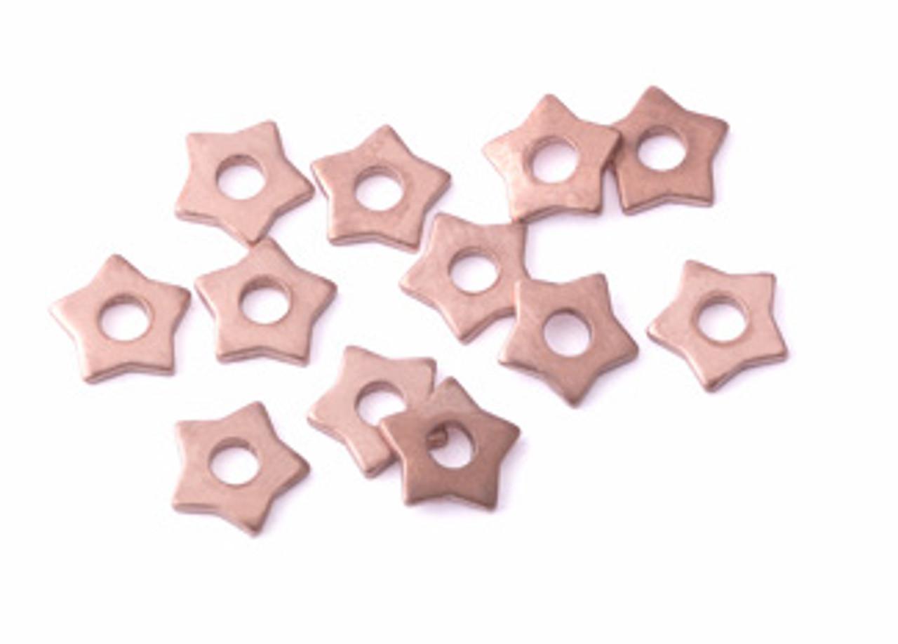 Copper Star Rivet Accent (12pcs.)