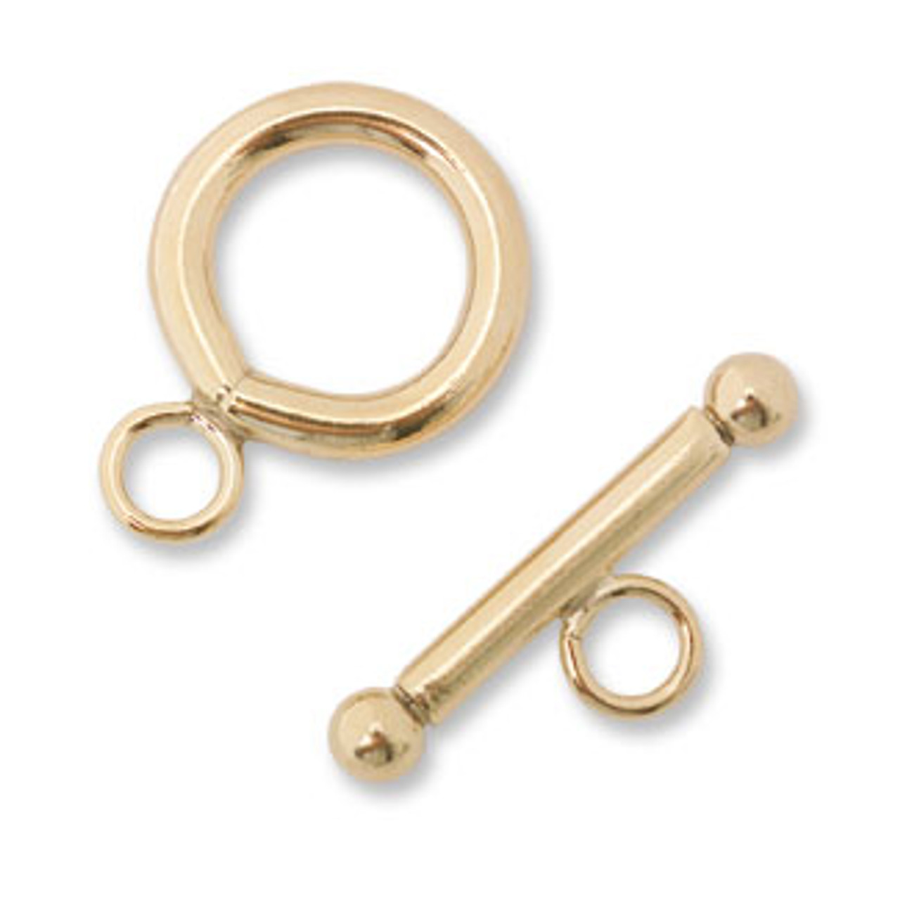 14/20 GF 12mm Toggle & Ring Clasp (1 set)