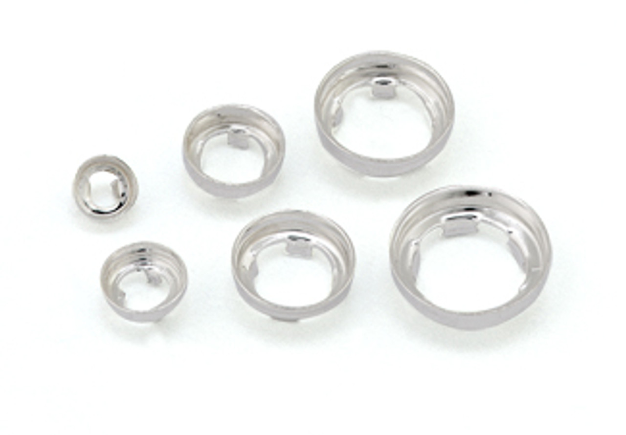 Assorted Tabbed Open Back Bezel Settings (6 pcs.)