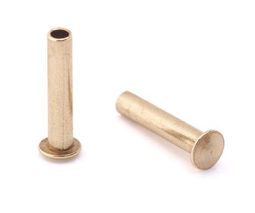 """3/32"""" Dia. 7/16"""" Long Brass Rivet (50pcs.)"""