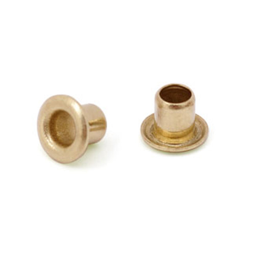 "3/32"" Dia. 3/32"" Long Brass Eyelet (50pcs.)"