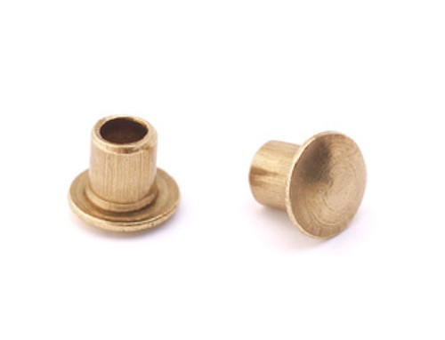 "3/32"" Dia. 3/32"" Long Brass Rivet (50pcs.)"