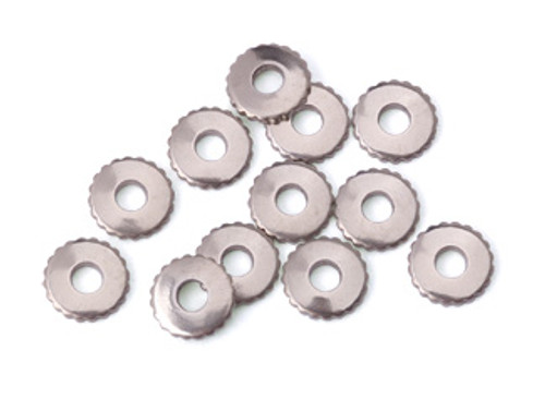 Nickel Silver Knurled Rivet Accent (12pcs.)
