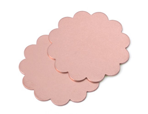 "Copper 1-1/8"" Scalloped Edge Blank (2pcs.)"