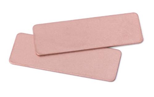 "Copper 1/2"" x 1-1/2"" Rectangle Blank (2pcs.)"