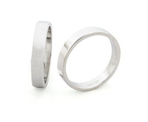 4mm Wide Ring Band - Size 10