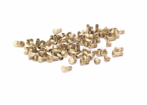 "Assorted 1/16"" Dia. Short Brass Rivets (100pcs.)"