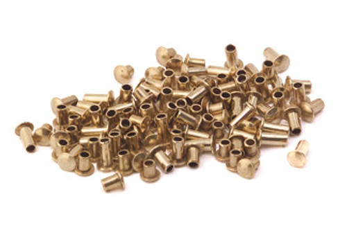 "Assorted 3/32"" Dia. Short Brass Rivets (100 pcs.)"