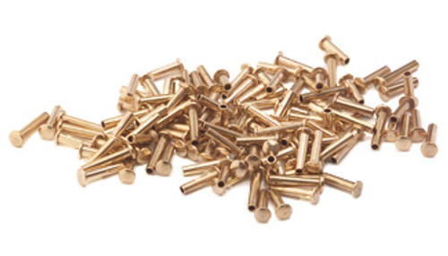 "Assorted 1/16"" Dia. Medium Brass Rivets (125 pcs.)"