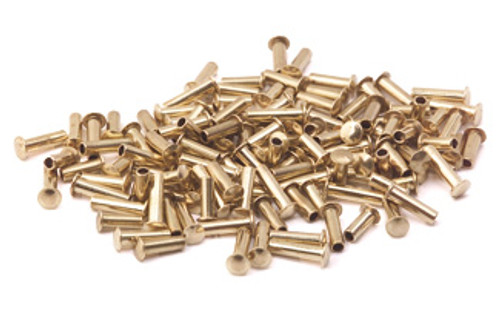 "Assorted 3/32"" Dia. Medium Brass Rivets (125 pcs.)"