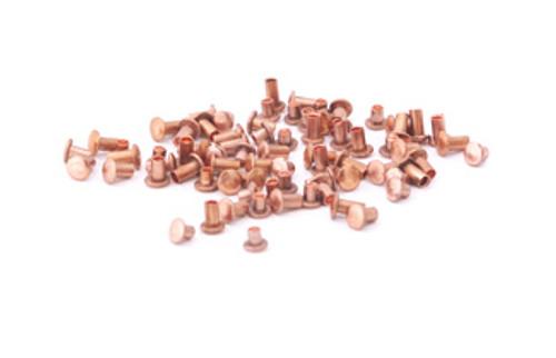 """Assorted 1/16"""" Dia. Short Copper Rivets (100 pcs.)"""