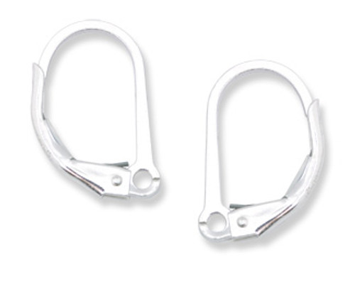 Fine Silver Leverback with Split Ring (6 pcs.)