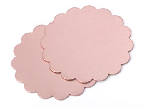 "Copper 1-3/8"" Scalloped Edge Blank (2pcs.)"