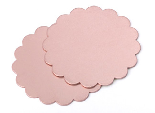 "Copper 1-3/8"" Scalloped Edge Blank (2pcs.)"