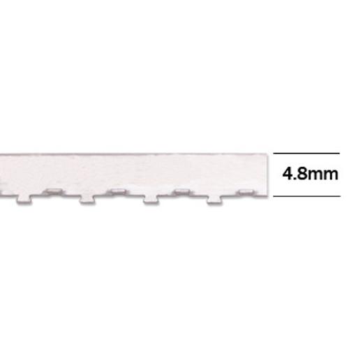 "4.8mm Wall Tabbed Straight Edge Bezel Wire (12"" length)"