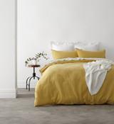 Harper Home Vintage Washed King Bed Quilt Cover Set   Tumeric