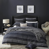 Private Collection Benson Navy Queen Bed Quilt Cover Set