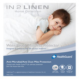 In 2 Linen Fitted Waterproof Cot Size Mattress Protector