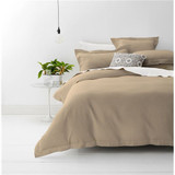 Style & Co Stone Waffle Weave Super King Bed Quilt Cover Set