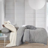 Gioia Casa Jersey Cotton Grey Marble King Bed Quilt Cover Set