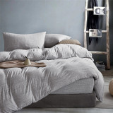 Gioia Casa Jersey Cotton Grey Marble Super King Bed Quilt Cover Set