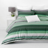 In 2 Linen Alex Green Super King Bed Quilt Cover Set