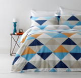 In2Linen Tanika Orange Super King Bed Quilt Cover Set |