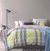 In 2 Linen Aaron Queen Bed Quilt Cover Set