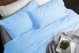 In 2 Linen Waffle Weave Blue European Pillowcase