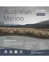 In 2 Linen Australian Merino Wool Queen Bed Quilt 300GSM   All seasons