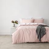In 2 Linen Vintage Washed Super King Bed Quilt Cover Set | Pink