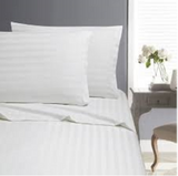 In2Linen King Single Bed Paris Stripe Sheet Set 500 thread count - White