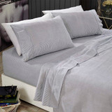 Flannel Sheet Set Egyptian Cotton 175 GSM Brushed - Design Stripes - From $39.95