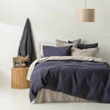 In2Linen Waffle Weave Pure Cotton European pillow Case I Navy