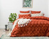 Park Avenue Medallion Tufted Quilt Cover Set | AUBURN