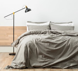 Renee Taylor Stone wash Quilt Cover Set | Stone/Moon Mist