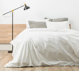Renee Taylor Stone wash Quilt Cover Set   White