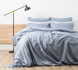 Renee Taylor  Stone wash Quilt Cover Set | BLUE/Celestial Blue