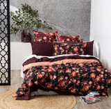 Renee Taylor Florence Plum Quilt cover Set 300 Thread Count 100% Cotton