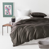 In2Linen 500TC Bamboo Cotton Quilt Cover Set | Charcoal