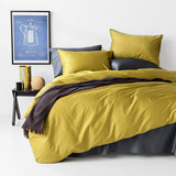 In2Linen 500TC Bamboo Cotton Quilt Cover Set | Mustard