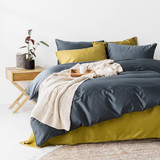 In2Linen 500TC Bamboo Cotton Quilt Cover Set | Prussian Blue