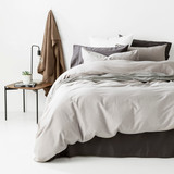 In2Linen Grange 100% Cotton Quilt Cover Set | Grey
