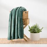 In2linen Ultra Soft Mink Blanket Green