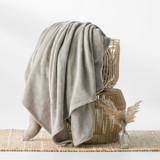 In2Linen Ultra Soft Mink Blanket 350GSM | Linen/Latte