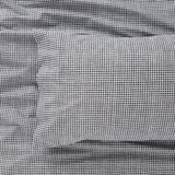 Harper Home Organic Cotton printed Sheet set Check| Midnight