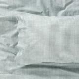 Harper Home Organic Cotton printed Sheet set Check| Sage